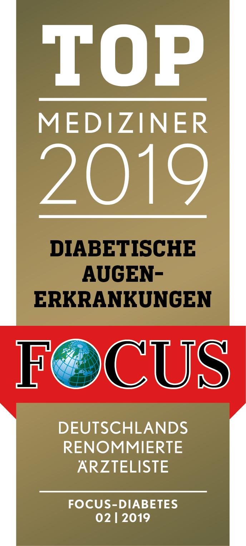Focus Top Mediziner Siegel Diabetische Augenerkrankungen 02/2019